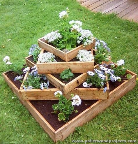 Pallet Garden Decor Patio Projects With Wooden Pallets Pallet Wood Projects