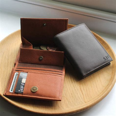 Leather Wallet Coin personalised s leather wallet with coin pocket by nv