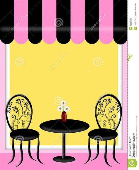 awning table and chairs bistro restaurant with awning table and chairs stock photo image 18681930