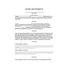 Free Last Will And Testament Templates by 39 Last Will And Testament Forms Templates Template Lab