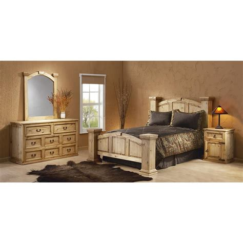 Bed And Nightstand Set Mansion Poster Bed 127733 Bedroom Sets At Sportsman S Guide