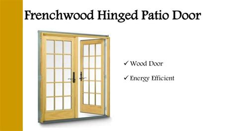 Different Types Of Patio Doors Different Types Of Patio Doors