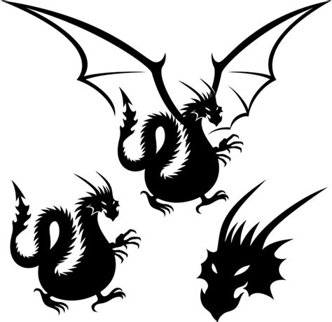 dragon tattoo vector free dragon tattoo element vector free vector in encapsulated