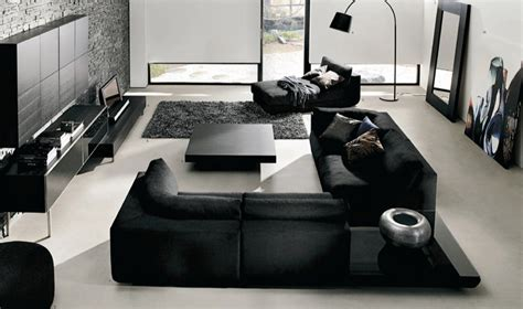 Modern Black Living Room by Modish Black And White Living Room Design Decobizz
