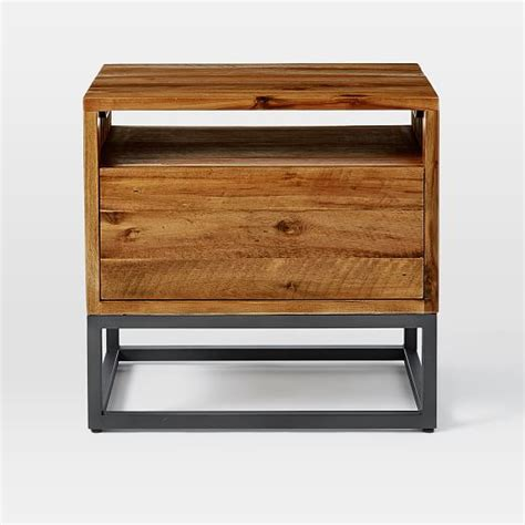 industrial nightstand logan industrial nightstand west elm