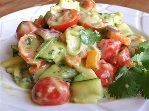 pasta salad dressings zucchini pasta salad with creamy cilantro lemon dressing