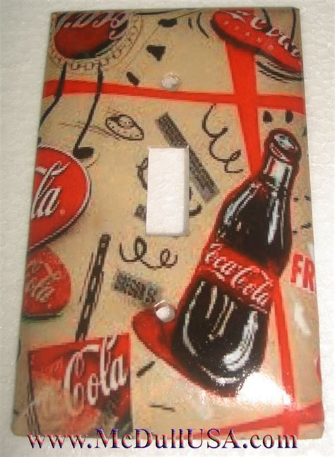 coke coca cola mini old light switch outlet cover plate coke coca cola bottle