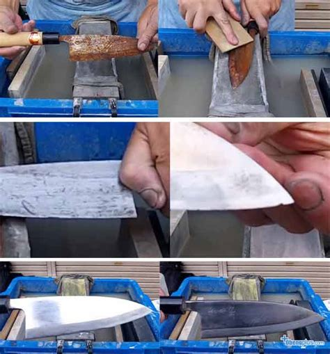 Pisau Dapur Buatan Jepang karat di pisau dapur dapat dihilangkan menjadi barang baru