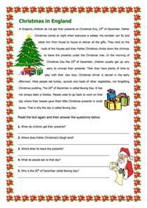 christmas in england worksheet free esl printable