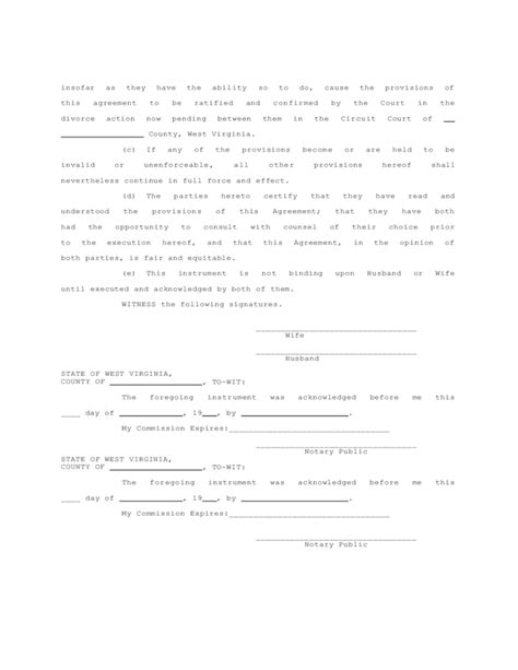 property settlement agreement template sle separation and property settlement agreement free