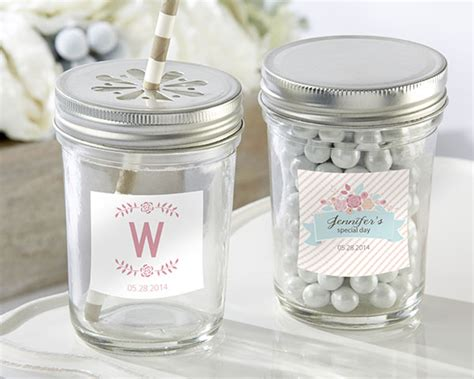 Jar Bridal Shower Favors by Personalized Rustic Jar Bridal Shower Favors