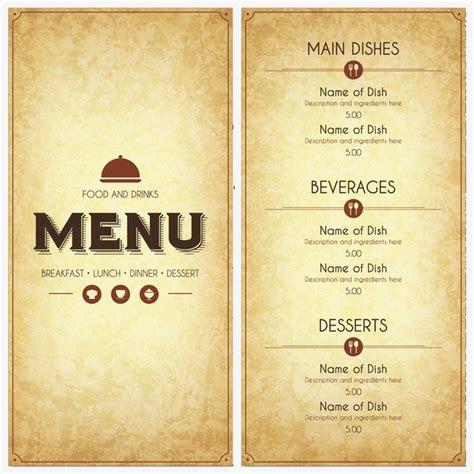 design menu vintage vintage menu design vector creative retro menu png and