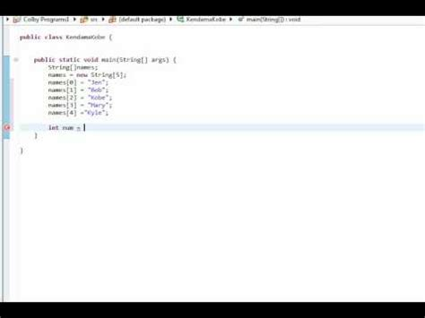 java tutorial random java tutorial 3 arrays and random number generator youtube
