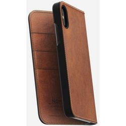 Nomad Leather Folio Iphone X Brown Traditional nomad leather folio for iphone x rustic brown