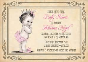 princess baby shower invitation vintage princess baby