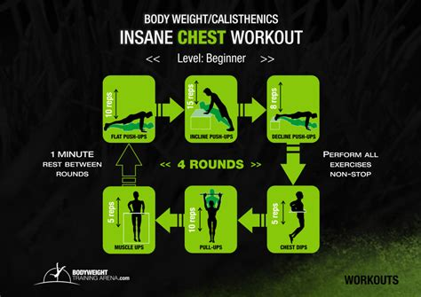 calisthenics chest workout bodyweight arena