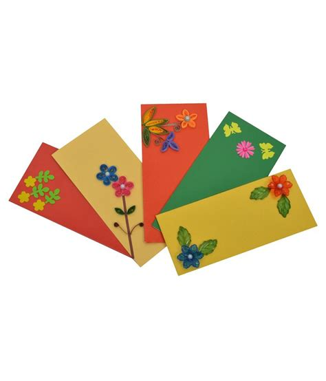Handmade Designer Envelopes - rmantra designer handmade shagun envelopes pack of 5