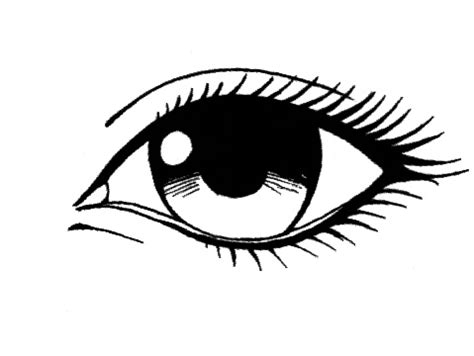how to draw realistic manga eye sketch coloring page