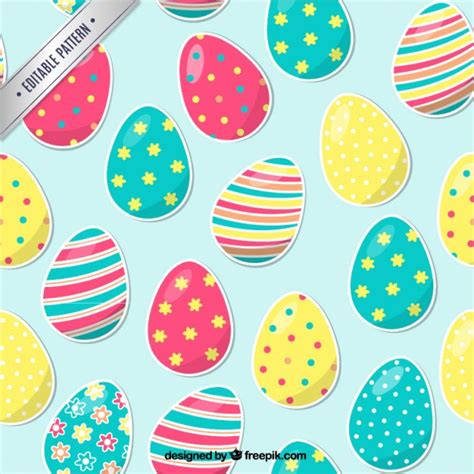 easter pattern vector pattern with easter eggs free vector free vectors ui