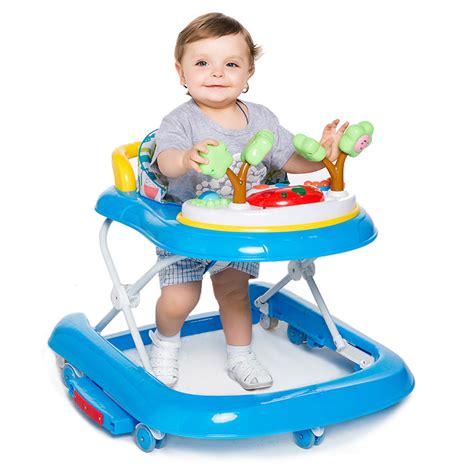 pop baby walker safe adjustable height rollover prevention toddler toys w ebay
