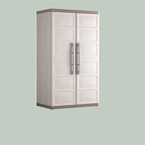 armadietti per esterno in resina armadio da esterno excellence con ripiani oppure portascope