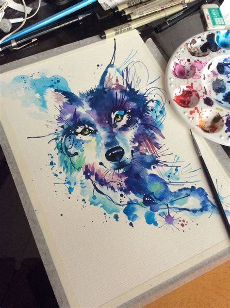 wolf watercolor tattoo 25 best ideas about watercolor wolf on wolf
