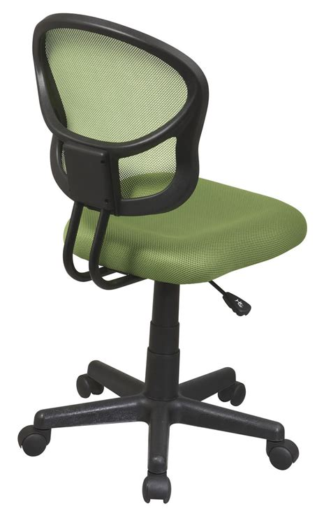 Screen Back Green Fabric Seat Computer Desk Task Swivel Swivel Office Chair