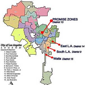 Los Angeles Zone Map by Garcetti Obama Promise Zone