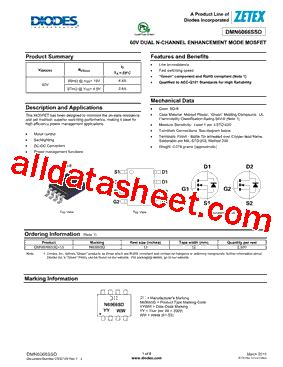 ztx650 transistor datasheet diodes inc part marking 28 images ap5724 datasheet pdf diodes incorporated dmn6066ssd