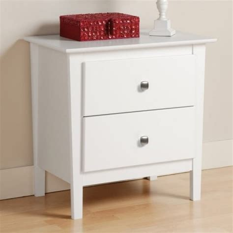 White Nightstands Berkshire 2 Drawer Nightstand White Modern