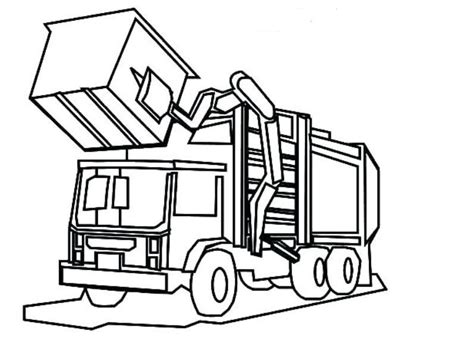 Coloring Page Garbage Truck by Garbage Truck Coloring Pages Printable Drawing Board Weekly