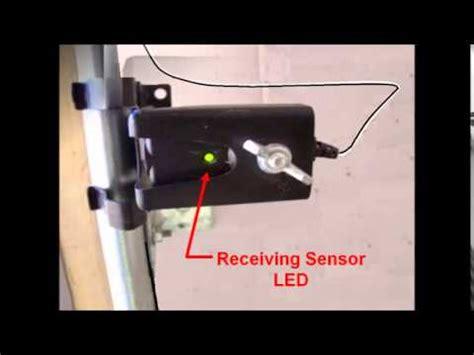 steps on how to properly align garage door sensors