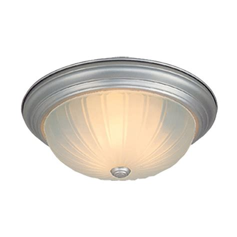 Brushed Nickel Ceiling Light Shop Cascadia Lighting 16 In W Brushed Nickel Ceiling