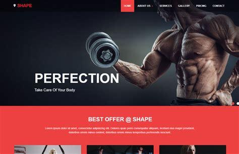 free fitness powerpoint templates shape free fitness website template webthemez