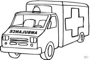 Ambulance Emergency Car Coloring Page Free Printable 911 Coloring Pages Preschoolers
