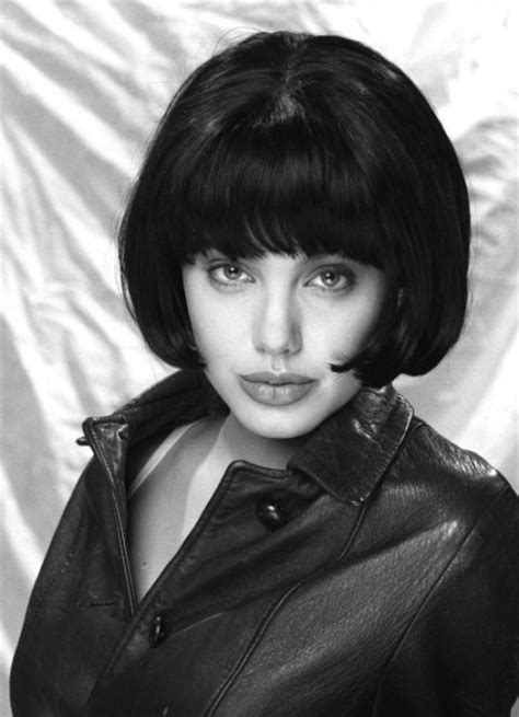 black bob hairstyles 1990 angelina jolie s hairstyle evolution ourvanity com hot