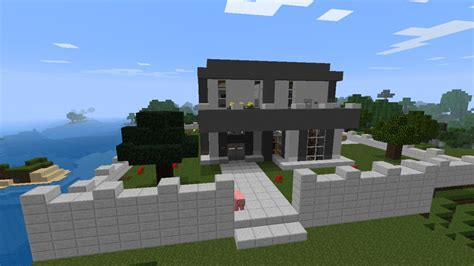 nice modern houses nice modern house with waterfall minecraft project