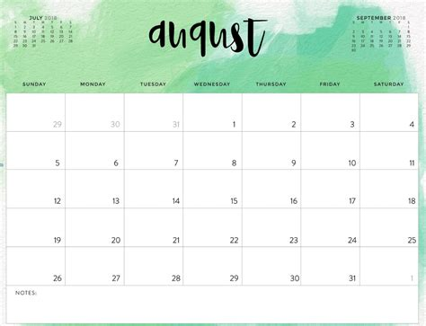 august calendar template 2018 august 2018 calendar printable free printable