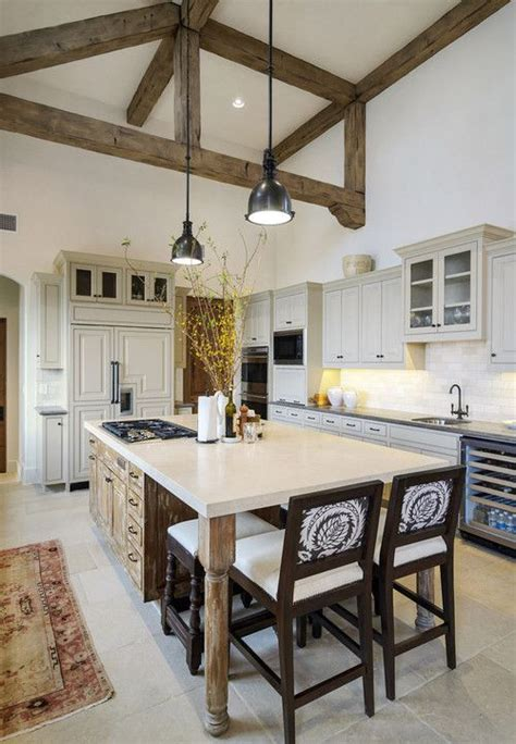 exposed wood beams inviting kitchen designs with exposed wooden beams 33
