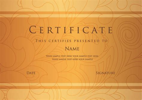 certificate design photoshop tutorials best certificate photoshop design free vector download