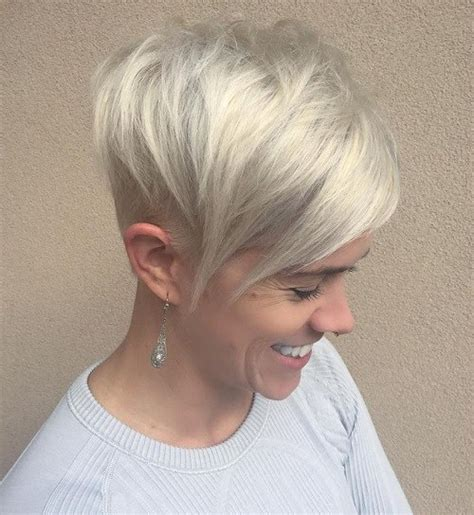 pixie cut with long wispy back and sides stacked bob with wispy neckline short hairstyle 2013