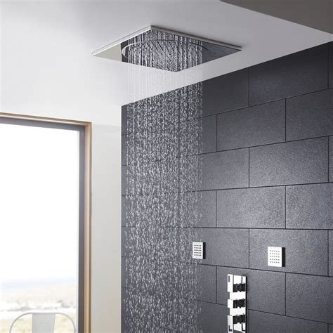 Light Bathroom Ideas Ceiling Mounted Rain Shower Head Ideas The Homy Design