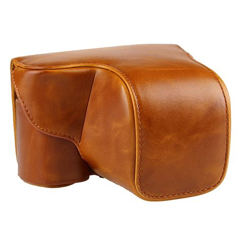 Leather A6000 leather bag for sony alpha a6000 a6300 with 16 50mm lens