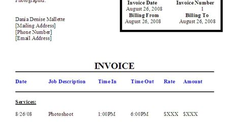 model invoice template modeling 101 a model s diary modeling invoices