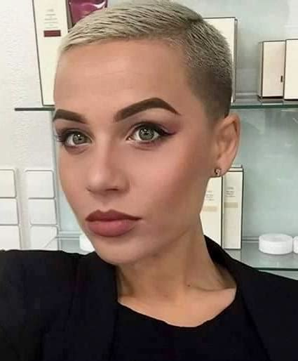 headbands on buzz cut hair opinions of this cut and color pinteres