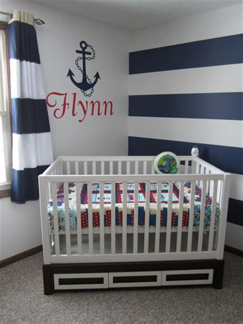 Nautical Themed Curtains Decorating Sailor Theme Nursery On Pinterest Sailor Nursery Nautical Theme Nursery And Fish Themed Nursery