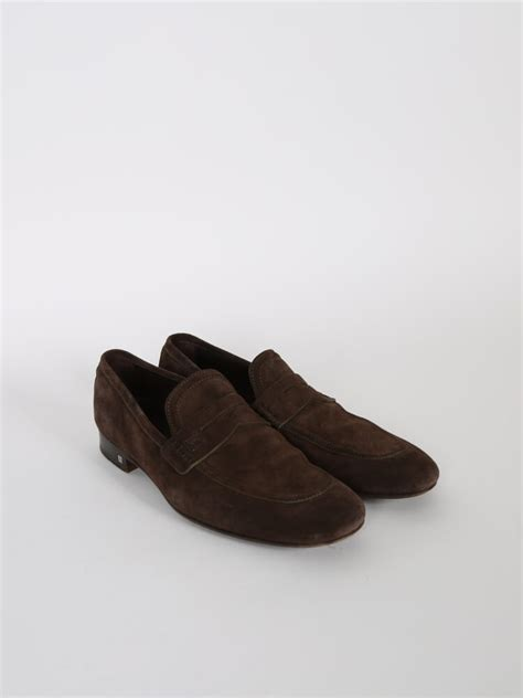 Loafers Lv Suede louis vuitton brown suede loafers 9 luxury bags