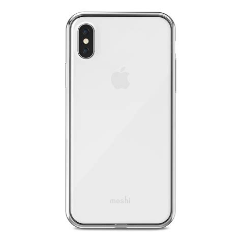 iphone xs x clear shop phone silver vitros by moshi