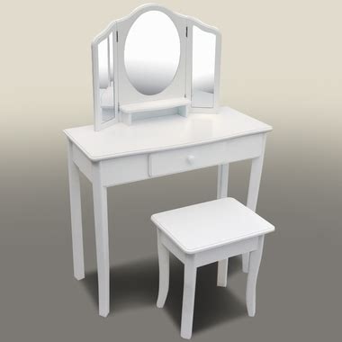 Guidecraft Vanity And Stool by Classic Vanity And Stool White 85710 By Guidecraft
