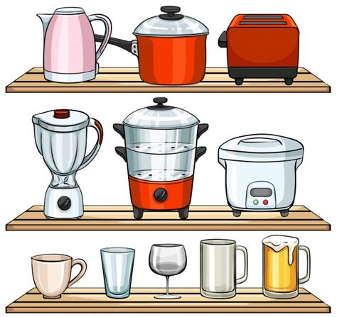 free kitchen appliances different kind of kitchen appliances vector free download